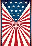 Poster of us flag Stock Illustration