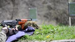 Firing AK 47 Stock Footage