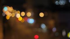 Blurred Traffic Lights HD Stock Footage