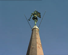 GRADO belltower tilt - stock footage