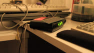 Stock Video Footage of Light blinking on router