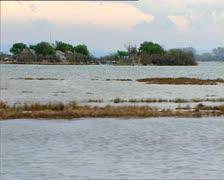 GRADO lagoon camera boat 2 Stock Footage