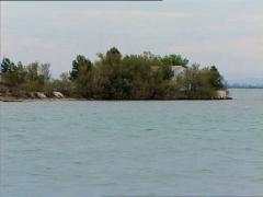 GRADO lagoon camera boat 3 Stock Footage