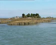 GRADO lagoon camera boat 7 Stock Footage
