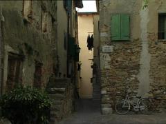 GRADO old alleys Stock Footage