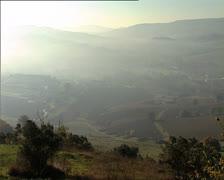 ITALIAN countryside Umbria panoramic shot Stock Footage