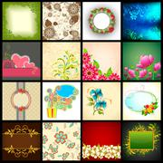 Vector Background Collection - stock illustration