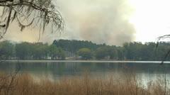 Fire, Smoke, Controlled Burn on North Florida Plantation Stock Footage