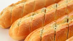 Garlic bread Stock Footage