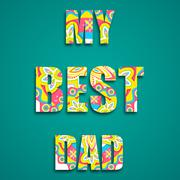 My Best Dad Stock Illustration