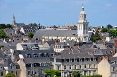 Church of Angers in France Stock Photos
