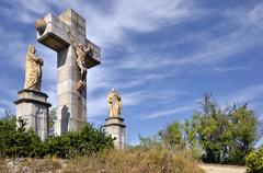Calvary at Lautrec in France Stock Photos