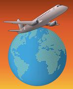 World airplane Stock Illustration