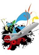 airplane abstract - stock illustration