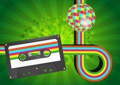 Audiocassette graphic Stock Illustration