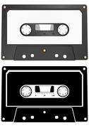 Audio cassette Stock Illustration