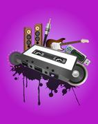 Stock Illustration of cassette audio device