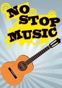 No stop music Stock Illustration