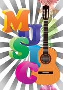 Stock Illustration of music poster