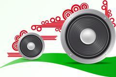 Loudspeaker Stock Illustration