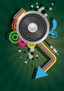 speaker graphic - stock illustration