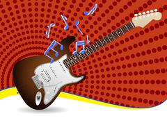 Electric guitar Stock Illustration