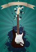 Stock Illustration of electric guitar