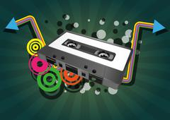 tape cassette - stock illustration