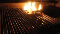 BBQ fire in Buenos Aires Stock Footage