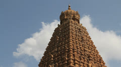 India Tamil Nadu Thanjavur Brihadeeswarar gopuram layered top 4 Stock Footage