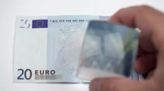 Twenty Euro Check Stock Footage