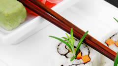 Maki Sushi - California Roll Stock Footage