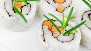 Stock Video Footage of Maki Sushi - California Roll