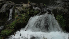 Water falls near Pucon, Chile Stock Footage