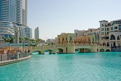 View of hotel the address in the dubai mall Stock Photos