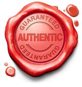 stamp guaranteed authentic - stock illustration