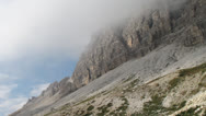 Stock Video Footage of Three peaks of Lavaredo, Alps