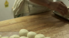 Making Sesame Bread Stock Footage