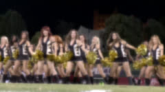 SEXY CHEERLEADERS DANCERS IN SOFT FOCUS  HD - stock footage