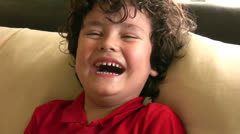 Laughing child Stock Footage