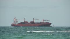 Modern cargo ship Stock Footage