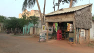 Stock Video Footage of India Tamil Nadu Chettinad package store with sloping corrugated roof 4
