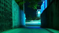 Car lights, speed-lapse Stock Footage
