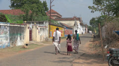 India Tamil Nadu Chettinad family passes worn gate 3 Stock Footage