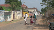 Stock Video Footage of India Tamil Nadu Chettinad family passes worn gate 3