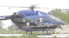 1080p Stock Footage - Life FLight Medical Helicoptor Med Close - flat - Audio Stock Footage
