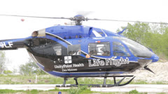 1080p Stock Footage - Life FLight Helicopter Med Close - audio Stock Footage