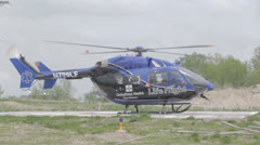1080p Stock Footage - Life Flight medical helicopter lift off Stock Footage