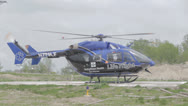 Stock Video Footage of 1080p Stock Footage - Life Flight medical helicopter lift off