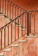 ole style staircase - stock photo